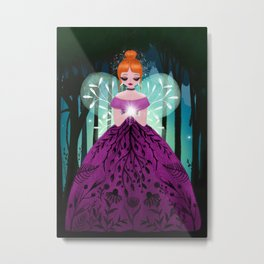 In The Ancient Forest The Woodland Fairy Walks Metal Print