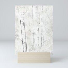 Minimalist Birch Trees Mini Art Print
