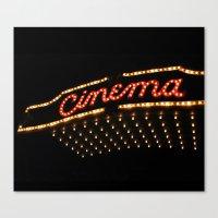 cinema Canvas Prints featuring Cinema by Kathleen Casey