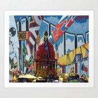austin Art Prints featuring Austin by JonezuArt