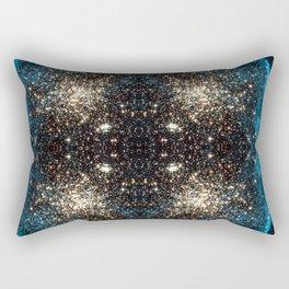 Blue Aurora Galaxy Star Field Rectangular Pillow