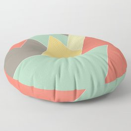 Retro Rainbow Tri Floor Pillow