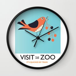 visit the zoo bird Wall Clock