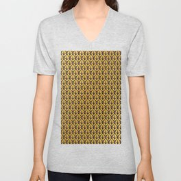 Art Deco Dragon Scales Unisex V-Neck