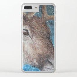 Reindeer (Rangifer tarandus) Clear iPhone Case