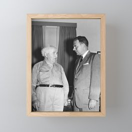 David Ben-Gurion and Thomas E. Dewey - 1955 Framed Mini Art Print
