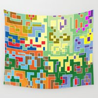 world maps Wall Tapestries featuring Maps by Tony Vazquez