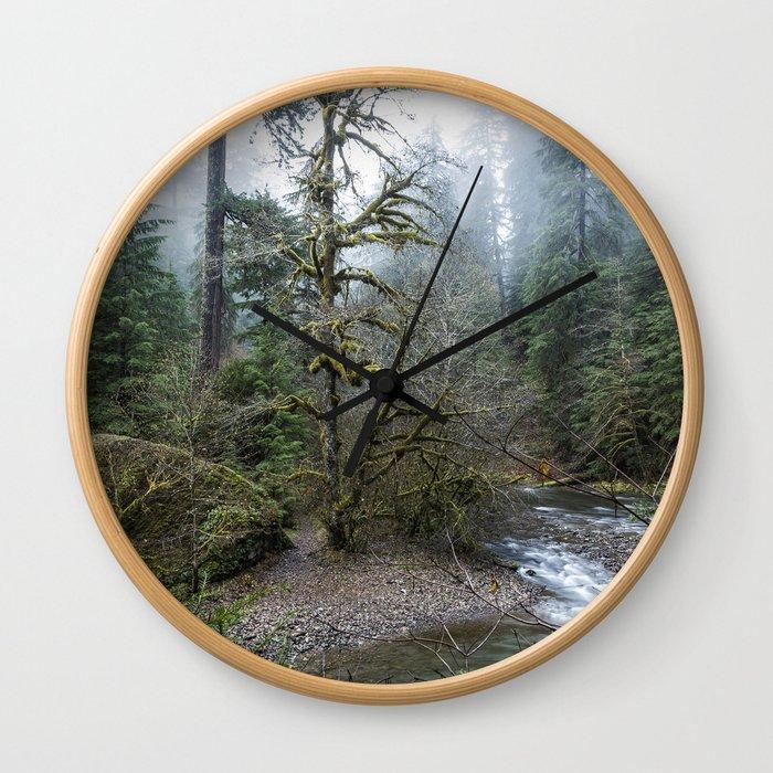A Creek Runs Through It Wall Clock