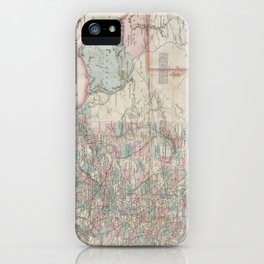Vintage Map of Texas (1870) iPhone Case