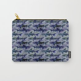 Purple Blue Ocean Sharks Carry-All Pouch