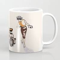 60s Mugs featuring Fashion statement of the 60s! by Classic Chase