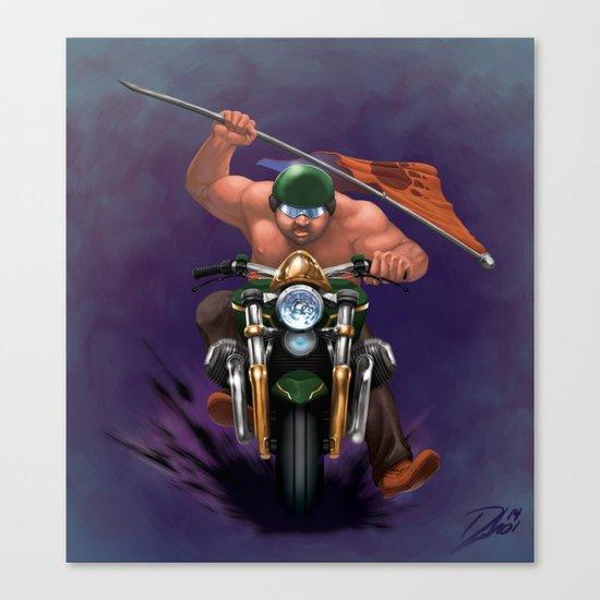 Bear Biker Canvas Print