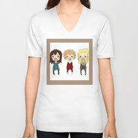 kili V-neck T-shirts featuring kili cry by Selis Starlight