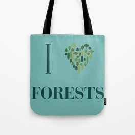 I heart Forests Tote Bag