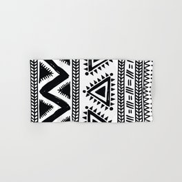 Tribal black and white Hand & Bath Towel