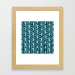Poseidon OCEAN BREEZE / All hail the god of the sea Framed Art Print