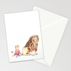 Girl with Her Lion Stationery Cards