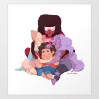 steven universe Art Prints featuring Steven Universe by Cátia Moreira