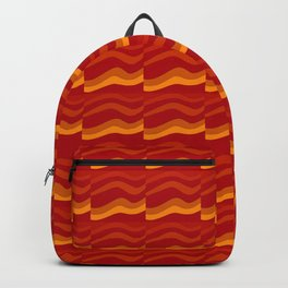 orange waves Backpack