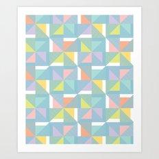 pinwheels - blue Art Print