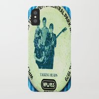 talking heads iPhone & iPod Cases featuring Central Park talking heads 1979 by Del Gaizo