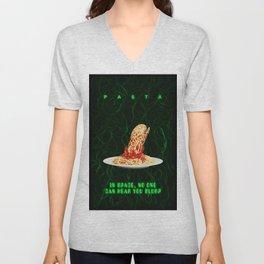 Pasta Alien Poster Illustration Unisex V-Neck