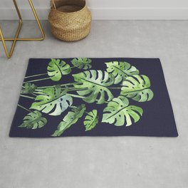 Delicate Monstera Blue #society6 Rug