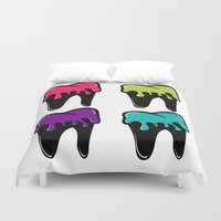 tooth Duvet Covers featuring Sweet Tooth by Jandris Illustration