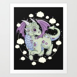 Dragon in the Clouds Art Print