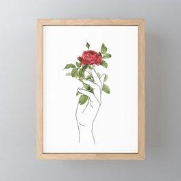 Flower in the Hand Framed Mini Art Print