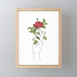 Flower in the Hand Framed Mini Art Print