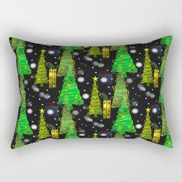 Christmas Snow Fall Rectangular Pillow