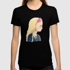 Luna LARGE Black Womens Fitted Tee