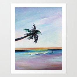Be Back At Sunset Art Print