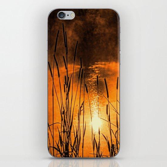 Sunrise at the lake /Sonnenaufgang am See iPhone & iPod Skin