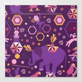 Hexagon circus Canvas Print