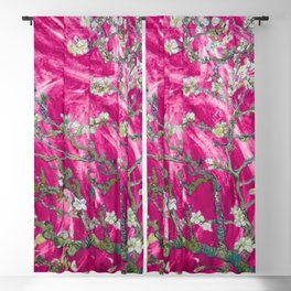 Vincent van Gogh Blossoming Almond Tree (Almond Blossoms) Pink Sunset Blackout Curtain