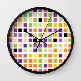 City Blocks - Eggplant #490 Wall Clock