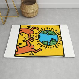 Homage to Keith Haring Rug