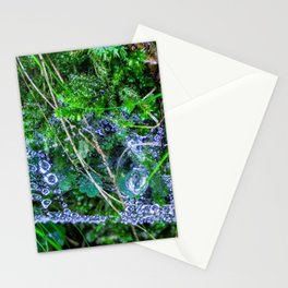 Raindrops in the spider web Stationery Cards