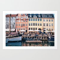 copenhagen Art Prints featuring Copenhagen by Katie Koop
