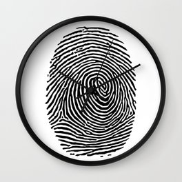 Fingerprint CSI crime scene Wall Clock