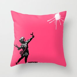 Banksy Valentine's Day Throw Pillow