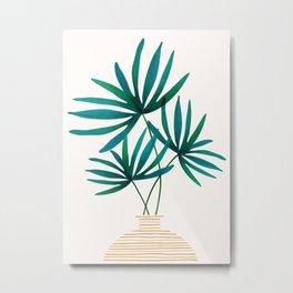 Tropical Palm Bouquet Metal Print