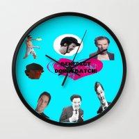 benedict Wall Clocks featuring Benedict DorkyBatch by Paris Noonan