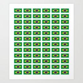 flag of brazil 4-Brazil, flag, flag of brazil, brazilian, bresil, bresilien, Brasil, Rio, Sao Paulo Art Print