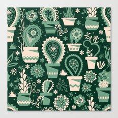 Paisley succulents Canvas Print