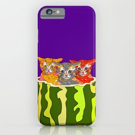 Cats in Watermelon Jacuzzi - Tropical iPhone Case