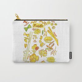 Types of Pasta Kitchen Decor Picture Wall Poster Watercolor Carry-All Pouch