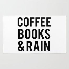 Coffee Books And Rain Rug